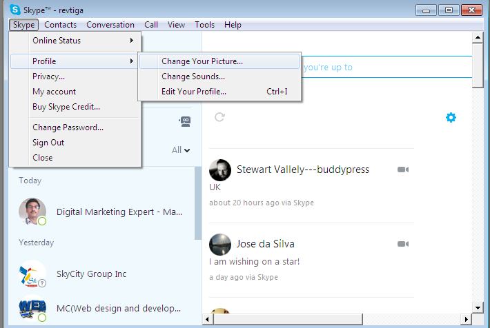 Simple easy steps How to Change Your profile Picture in Skype